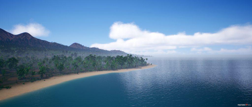 jungle island birdview sky